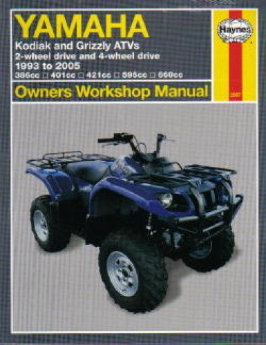 yamaha yfm 400 450 600 660 kodiak grizzly 1993 2005 atv repair rh repairmanual com Yamaha Grizzly 125 Automatic Yamaha Grizzly 125 Automatic