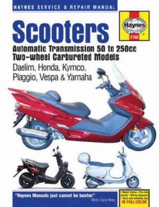 Honda KYMCO Vespa Scooter Manual - Twist and Go Automatic TransmissionRepair Manuals Online
