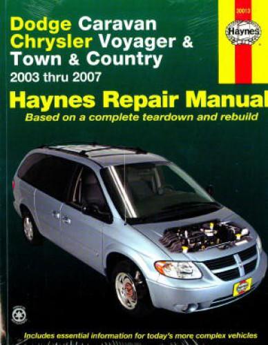 2003 2007 dodge caravan chrysler voyager town country haynes rh repairmanual com Repair Manuals Yale Forklift Truck Manual