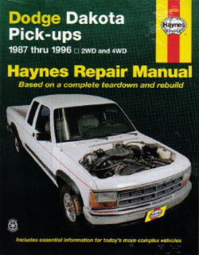Haynes Dodge Dakota Pickup Truck 1987 1996 Repair Manual