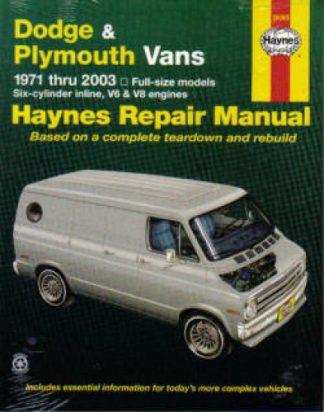 Haynes Dodge Plymouth Vans 1971-2003 Auto Repair Manual