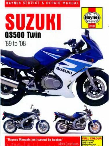 suzuki gs500 twins 1989 2008 haynes motorcycle repair manual rh repairmanual com Spanish Motorcycle 1987 Suzuki Scooter