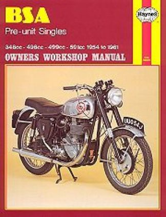 Haynes BSA Pre-unit Singles 1954-1961 Owners Workshop Manual