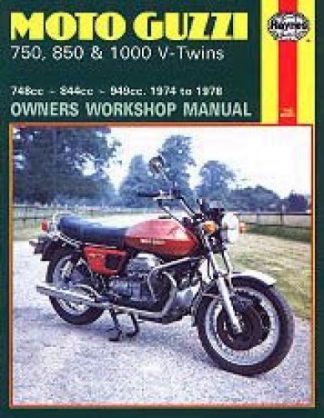Haynes Moto Guzzi 750 850 1000 V-Twins 1974-1978 Repair Manual