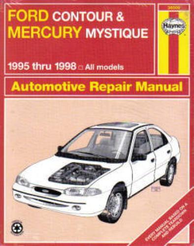 haynes ford contour mercury mystique 1995 1998 auto repair. Black Bedroom Furniture Sets. Home Design Ideas