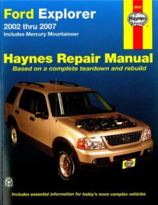 Haynes Ford Explorer and Mercury Mountaineer 2002-2010 Auto Repair Manual