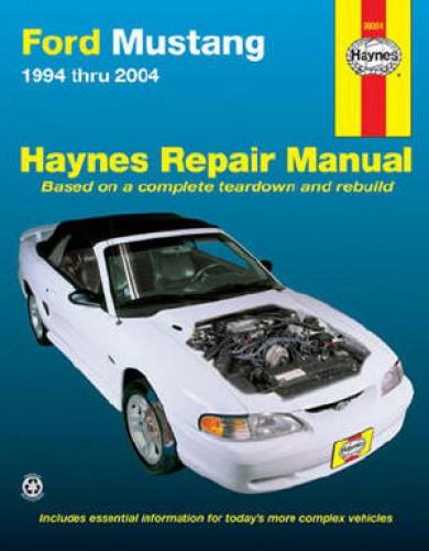 ford mustang 1994 2004 haynes car repair manual. Black Bedroom Furniture Sets. Home Design Ideas