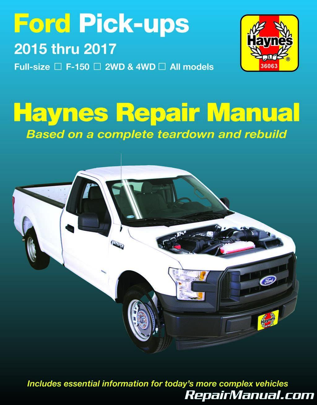 Haynes Ford Pickup 2015 – 2017 Repair Manual