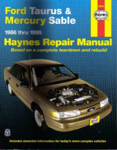 haynes ford taurus mercury sable 1986 1995 auto repair manual. Black Bedroom Furniture Sets. Home Design Ideas
