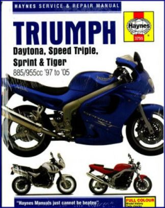 Haynes Triumph Daytona Speed Triple Sprint Tiger Fuel Injected Triples 1997-2005 Repair Manual