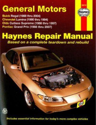 Haynes GM Buick Regal Chevrolet Lumina Oldsmoblile Cutlass Supreme Pontiac Grand Prix 1988-2007 Auto Repair Manual