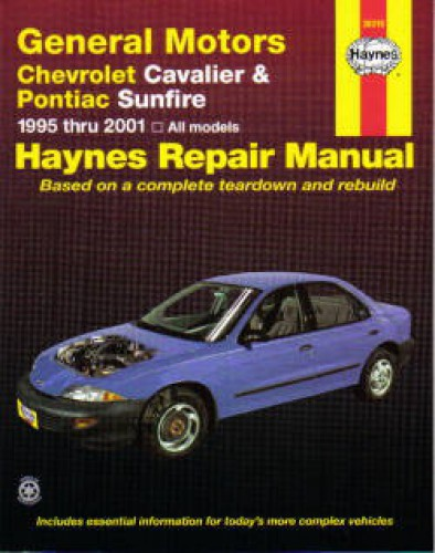 haynes gm chevrolet cavalier pontiac sunfire 1995 2005 auto repair rh repairmanual com 2003 Chevy Cavalier 2005 Cavalier Manual Black