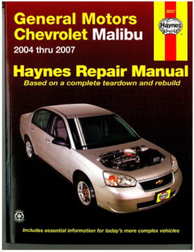 general motors chevrolet malibu 2004 2007 haynes repair manual rh repairmanual com 2010 chevy malibu repair manual pdf 2008 chevy malibu repair manual