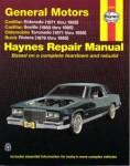 Haynes GM Cadillac Eldorado Seville Oldsmobile Toronado Buick Riviera 1971-1985 Auto Repair Manual