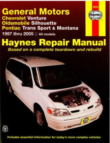 Haynes GM Chevrolet Venture Oldsmobile Silhouette Pontiac Trans Sport Montana 1997-2005 Auto Repair Manual