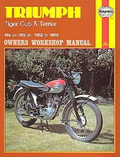 haynes triumph tiger cub terrier 1952 1968 motorcycle service manual rh repairmanual com 1966 Triumph Bonneville 1969 Triumph Bonneville