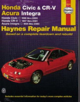 Haynes Honda Civic CR-V Acura Integra 1994-2001 Auto Repair Manual