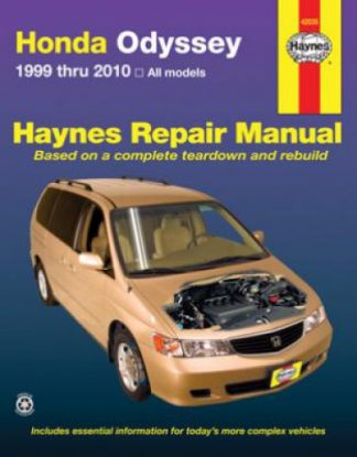 Haynes Honda Odyssey 1999-2010 Automotive Repair Manual