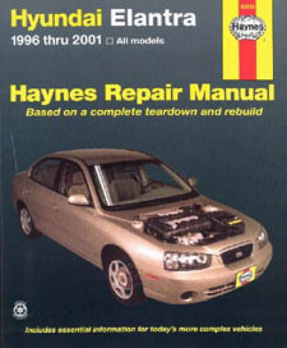 Haynes Hyundai Elantra 1996-2001 Auto Repair Manual 1