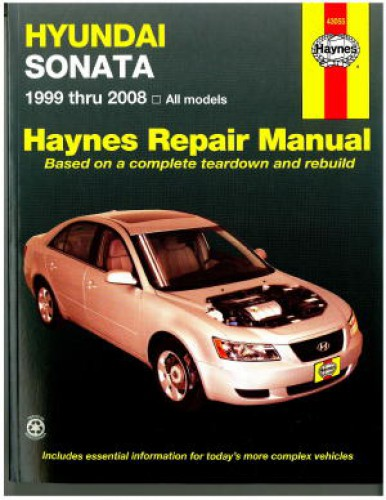 haynes hyundai sonata 1999 2008 auto repair manual rh repairmanual com 2009 Hyundai Sonata 2002 Hyundai Sonata