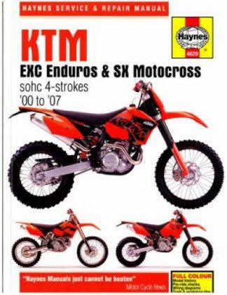 Haynes KTM EXC Enduro, SX Motocross 2000-2007 Motorcycle Repair Manual