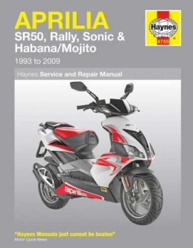 Haynes Aprilia SR50, Rally, Sonic, Habana, Mojito Scooters 1993-2009 Repair Manual