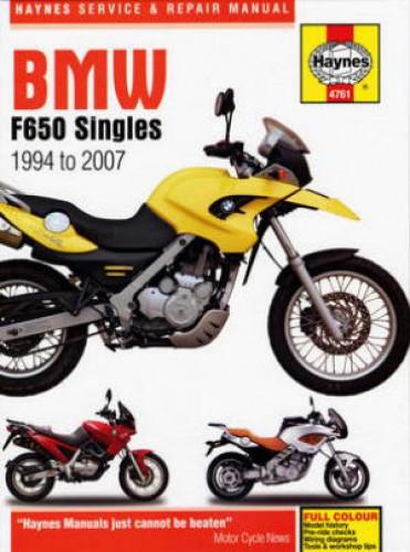 Haynes BMW F650 Singles Repair Manual covering all 1994-2007
