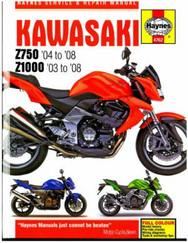 Haynes Kawasaki 2004-2008 Z750 and 2003-2008 Z1000 Motorcycle Repair on