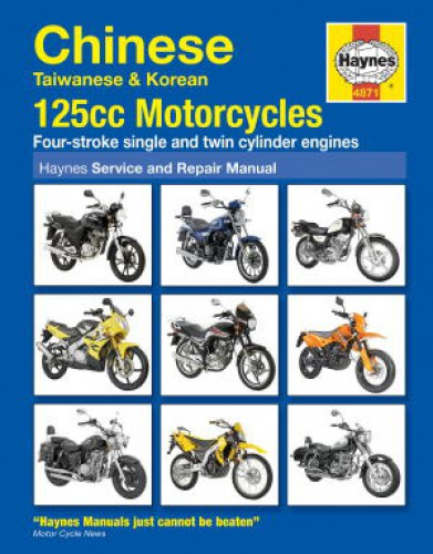 Haynes Chinese Taiwanese Korean 125CC Motorcycles Repair Manual