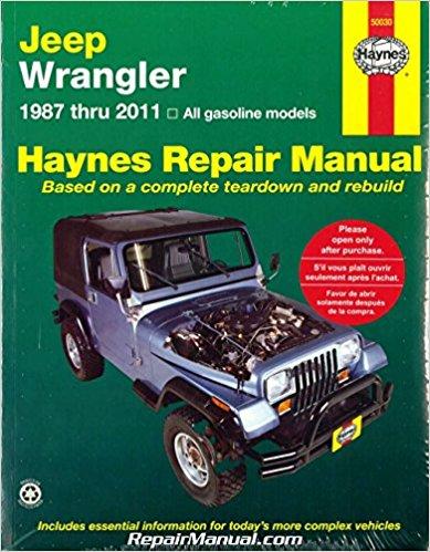 jeep wrangler 1987 2011 haynes auto repair manual rh repairmanual com 99 Jeep Wrangler Hard Top Lifted 99 Jeep TJ 4 0 5Sp