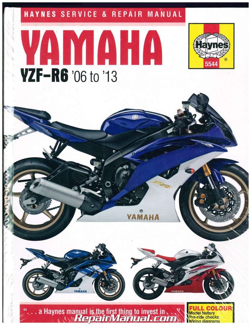 Yamaha YZF-R6 2006-2013 Haynes Motorcycle Repair Manual