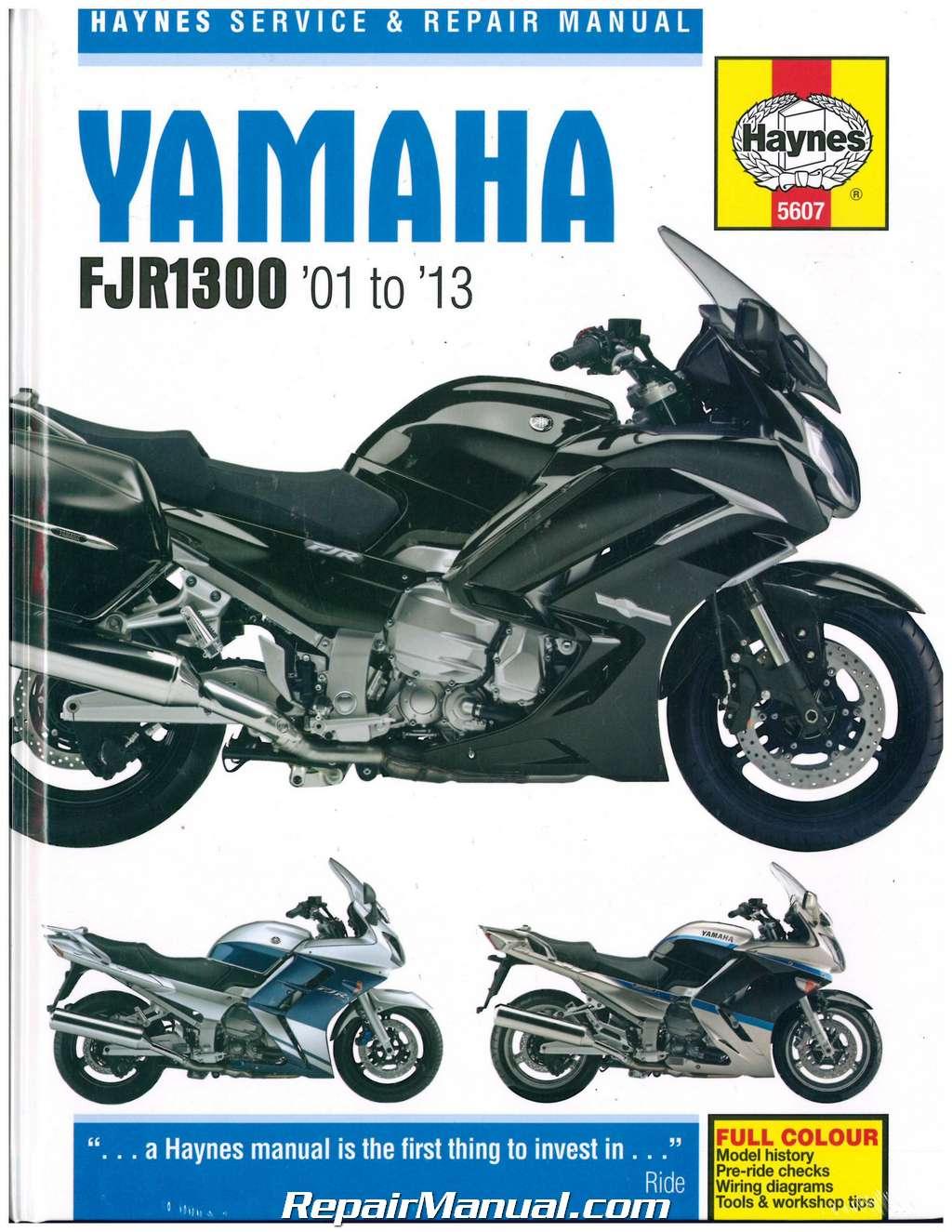 yamaha fjr1300 2001 2013 haynes motorcycle repair manual. Black Bedroom Furniture Sets. Home Design Ideas