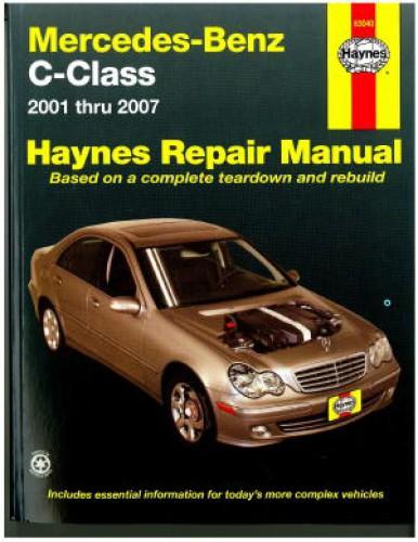 2001 2007 mercedes benz c class haynes automotive repair manual rh repairmanual com mercedes benz car manual mercedes benz owners manual