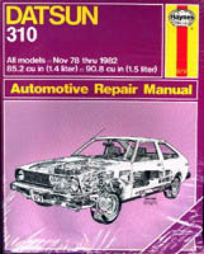 used haynes datsun 310 1978 1982 automotive repair manual rh repairmanual com used chilton auto repair manual used car repair manuals for sale