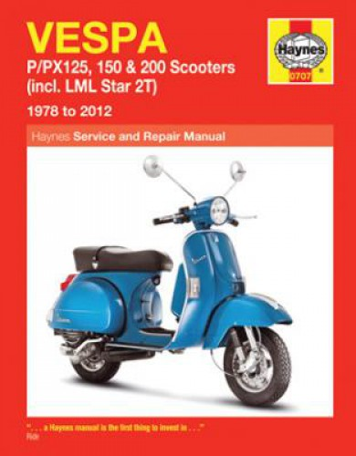 vespa p px scooters 1978 2012 haynes service manual rh repairmanual com Vespa 3 Wheel Scooter Vespa 3 Wheel Scooter