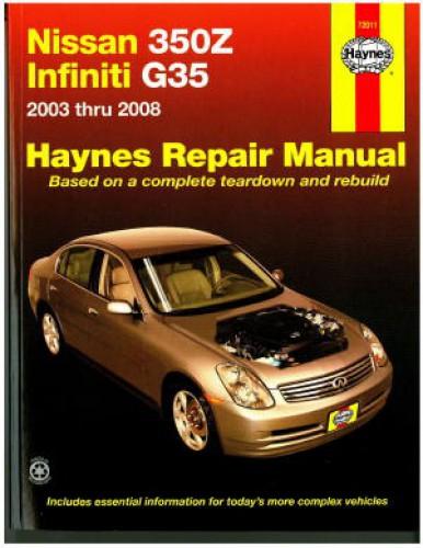 haynes nissan 350z infiniti g35 2003 2008 auto repair manual rh repairmanual com 2008 infiniti g37 sport coupe owners manual 2008 infiniti g37 sport coupe owners manual