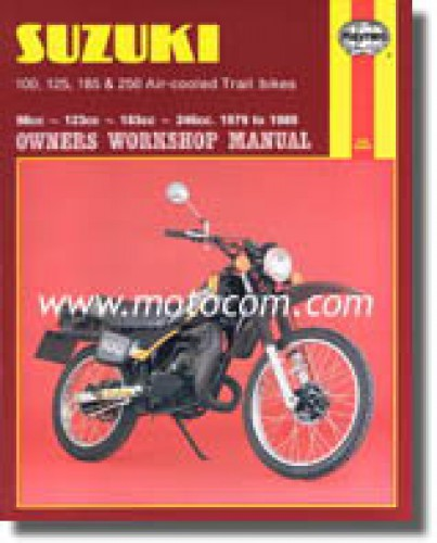 haynes suzuki ts100 ts125 ts185 ts250 1979-1989 repair manual