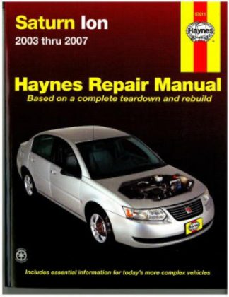 Saturn Ion 2003-2007 Haynes Repair Manual