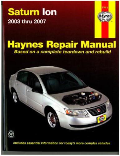 Saturn Ion 2003-2007 Haynes Repair Manual