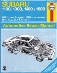 Haynes Subaru 1100 1300 1400 1600 1971-1979 Auto Repair Manual
