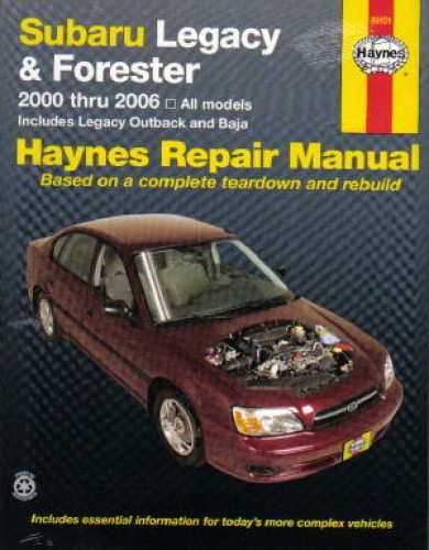 haynes subaru legacy 2000 2009 forester 2000 2008 car repair manual rh repairmanual com 2008 subaru outback repair manual 2008 subaru forester repair manual