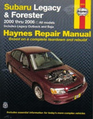 Haynes Subaru Legacy Forester 2000-2006 Auto Repair Manual