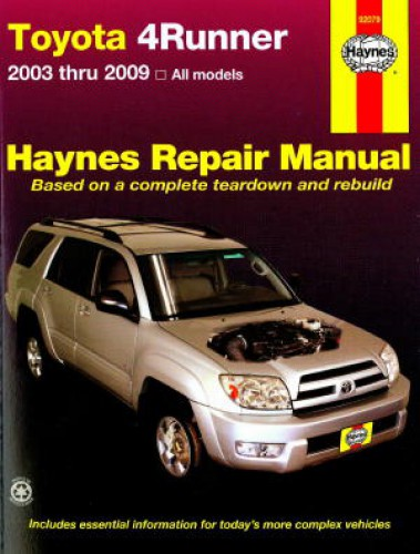 Haynes 2003-2009 Toyota 4Runner Auto Repair Manual