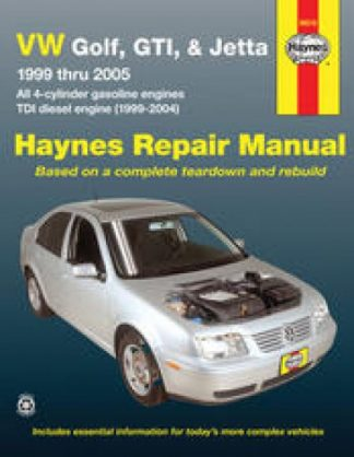 Haynes VW Golf GTI Jetta 1999-2005 Auto Repair Manual