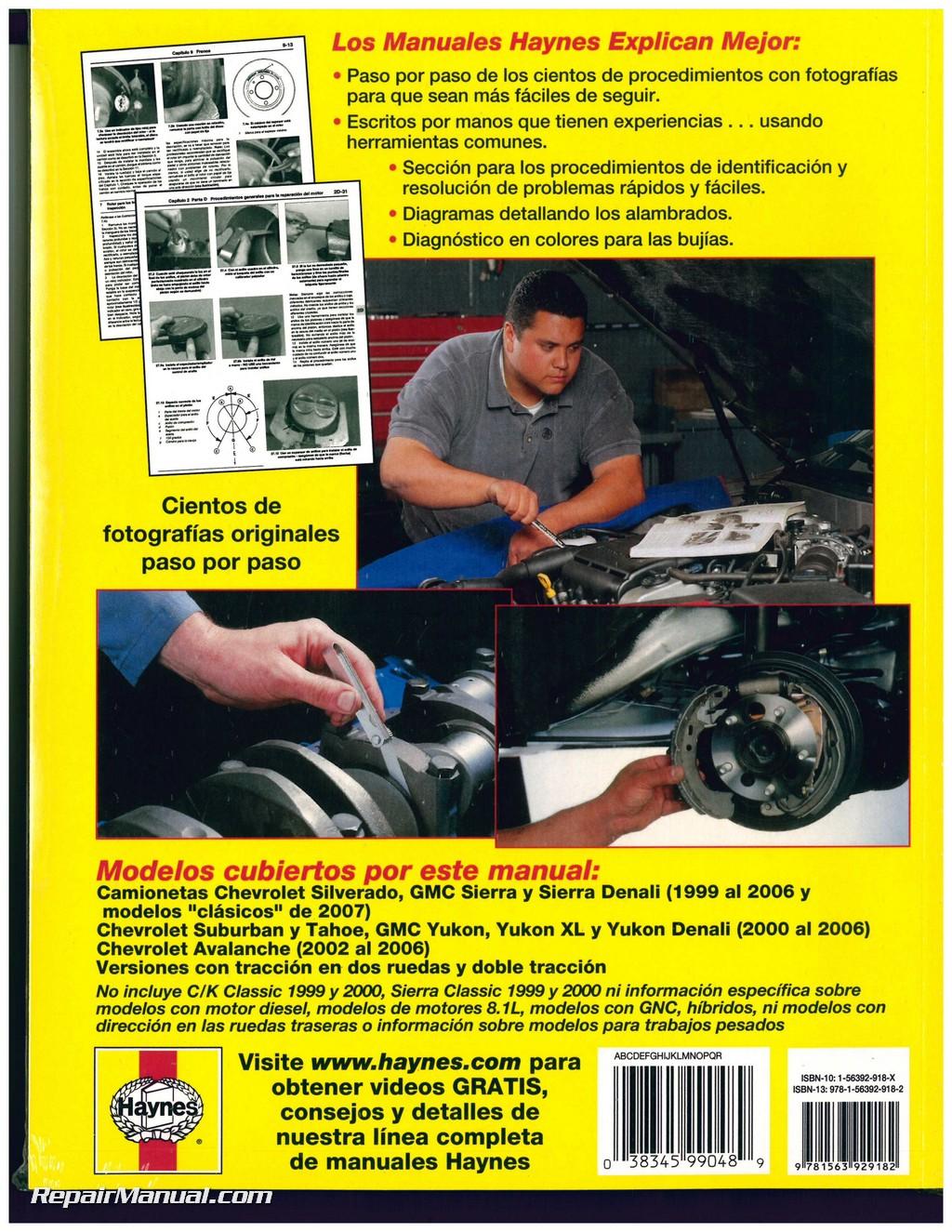 1999-2007 Chevrolet GMC Pick-ups SUVs Repair Manual ...
