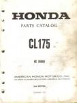 Honda CL175 Scrambler Parts Manual