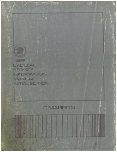 1986 Cadillac Cimarron Service Information Repair Manual Initial Edition Used