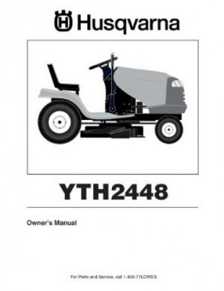 Husqvarna YTH2448 Riding Lawnmower Owners Manual