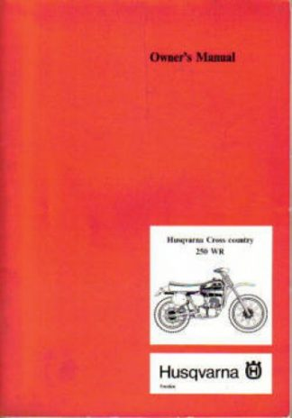 250WR Owners Manual Husqvarna Cross Country Air Cooled