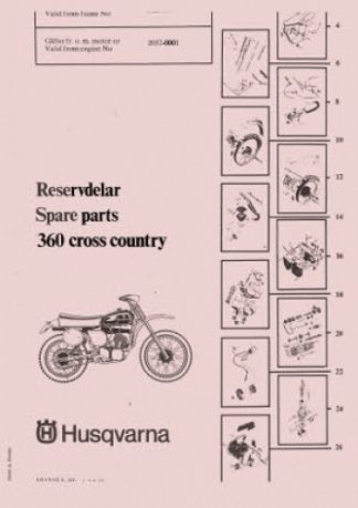 Official 1974-1975 Husqvarna 400 WR Factory Parts Manual